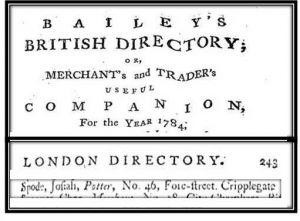 Spode baileys 1784