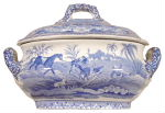 Sauce tureen and lid
