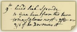 Whieldon's account book entry for spode